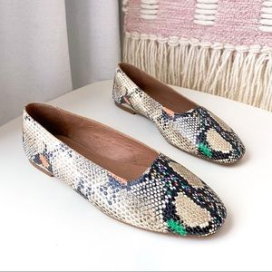 Madewell The Cory Flat In Snake Embossed Leather 8